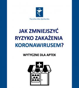 Równocześnie Naczelna Izba Aptekarska opublikowała specjalną broszurę, w której zaleca wdrożenie w placówkach aptecznych konkretnych działań zapobiegawczych (fot. NIA).