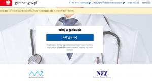 Do aplikacji gabinet.gov.pl mogą zalogować się wszyscy farmaceuci, którzy posiadają Prawo Wykonywania Zawodu, wykorzystując swój Profil Zaufany (fot. rx.edu.pl).