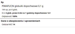 Wypisana ilość leku jest bez wątpienia matematycznie zgodna z podanym dawkowaniem (fot. rx.edu.pl).