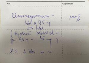 Czy podany zapis ilości sumarycznej uprawnia pacjenta do zrealizowania recepty na Clonazepam?