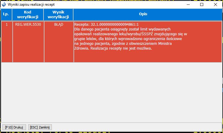 W sezonie 2021/2022 pojawił się nowy bład DRR 5530 blokujący możliwość recepty na VaxigripTetra dla dziecka. Naprawa wymaga kontaktu z CeZ.